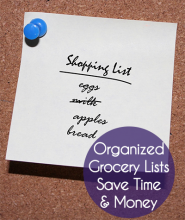 Organized Grocery Lists Save Time & Money