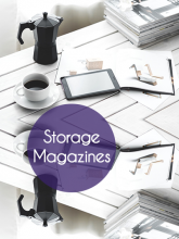 Storage Magazines - You may not be magazine-ready but you can still be organized