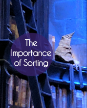 The Importance of Sorting: Organizing Lessons from Fiction